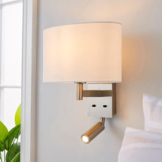 An Image of Reader Shaded Ivory Wall Light Ivory