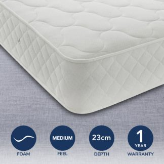 An Image of Prince Rebounce Medium Mattress White
