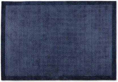 An Image of Jago Border Rug, Extra Large 200 x 300cm, Ink Blue