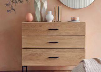 An Image of Heal's Marano 3 Drawer Chest Oak