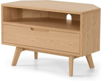 An Image of Jenson Corner TV Unit, Oak