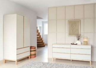 An Image of Heal's Lars 6 Drawer Chest Wide Cashmere