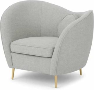 An Image of Kooper Accent Armchair, Luna Grey Weave