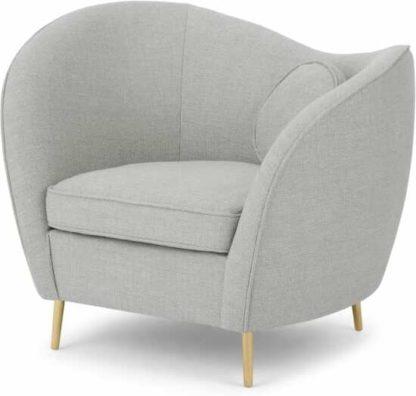 An Image of Kooper Accent Armchair, Luna Grey Weave