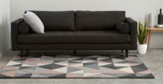 An Image of Henrik Hand Tufted Wool Rug, Small 120 x 180cm, Pink and Grey