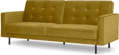 An Image of Rosslyn Click Clack Sofa Bed, Vintage Gold Velvet