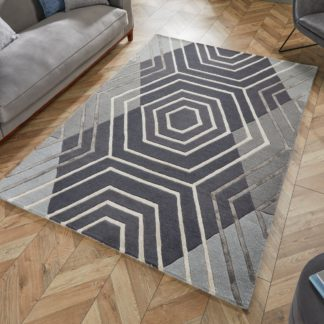 An Image of Harlow Rug Grey and White