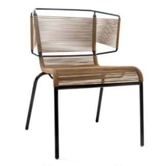 An Image of Ligne Roset Fifty Dining Chair In Tabac