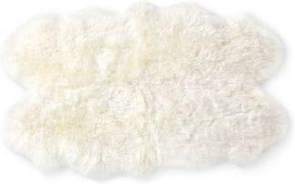 An Image of Helgar Quad Sheepskin Rug 105 x 170cm, Ivory