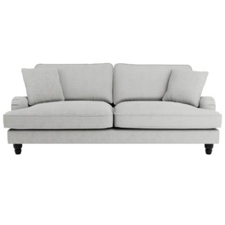 An Image of Beatrice Boucle 4 Seater Sofa Light Grey