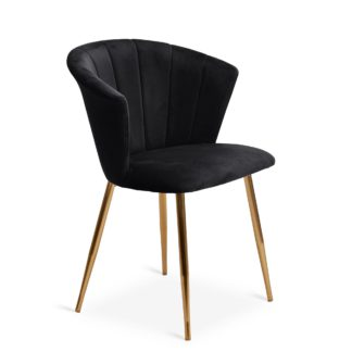 An Image of Kendall Chair Black Velvet Black