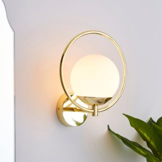 An Image of Fort Halo Bathroom Wall Light Champagne Champagne