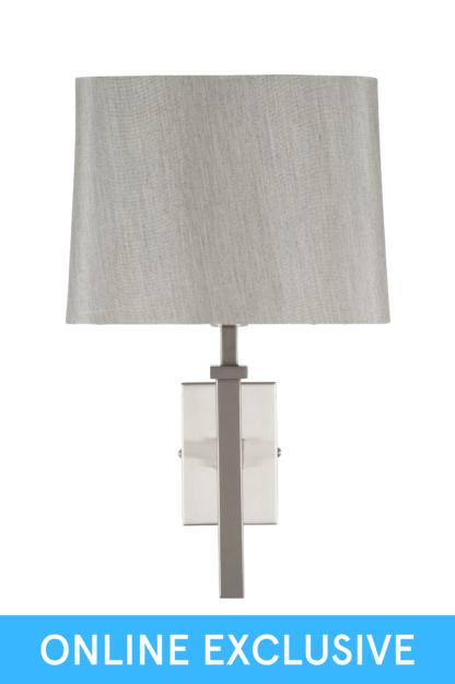 An Image of Erris Wall Lamp - Satin Silver Metal