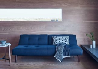 An Image of Heal's Buri Sofa Bed Dessin Blue