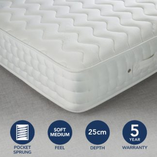 An Image of Fogarty Bamboo Anti Allergy 1200 Pocket Sprung Mattress White