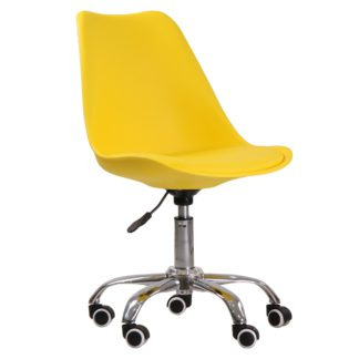 An Image of Orsen Swivel Office Chair Yellow