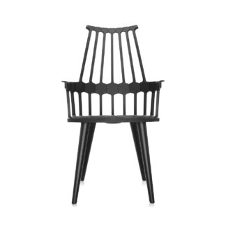 An Image of Kartell Comback Chair Black Minimum 2 Chairs