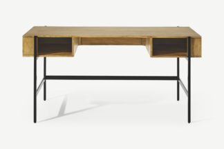 An Image of Morland Wide Desk, Light Mango Wood