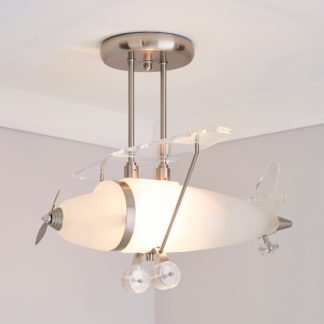 An Image of Airplane 1 Light Ceiling Fitting Silver