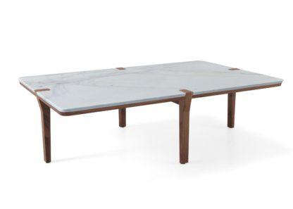An Image of Wewood Corner Rectangular Coffee Table Walnut