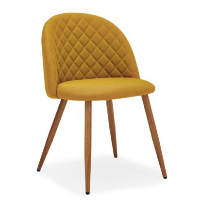 An Image of Astrid Chair Yellow Fabric Yellow