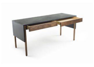 An Image of De La Espada Drape Desk Walnut