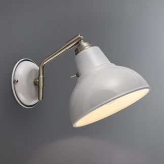An Image of Bradwell Dove Grey Wall Light Dove (Grey)