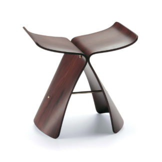 An Image of Vitra Butterfly Stool Santos Palisander