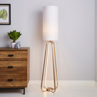 An Image of Robyn Dual Lit Integrated LED Floor Lamp White White
