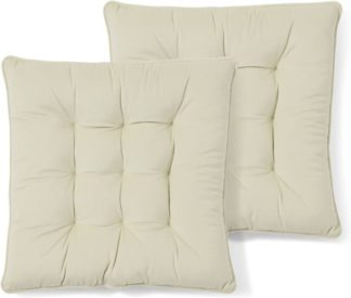 An Image of Julius Set of 2 Velvet Seat Pads, 40x40cm, Pale Taupe