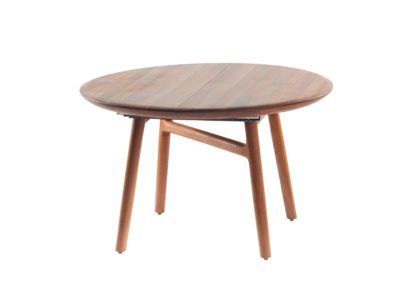 An Image of Artisan Dash Extending Dining Table European Walnut D125cm + 60cm