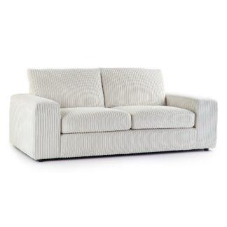 An Image of Champ Fabric 3 Seater Sofa Cream
