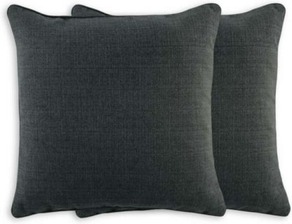 An Image of Marzia Set of 2 Cushions 44x44cm, Charcoal Grey