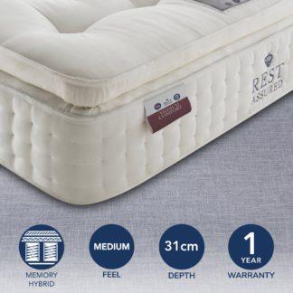 An Image of Rest Assured 2000 Pocket Memory Medium Mattress White