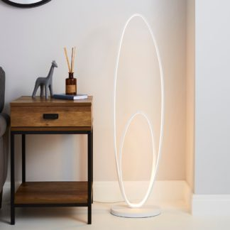 An Image of Menton Dimmable Integrated LED White Floor Lamp White