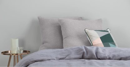 An Image of Grove 50 x 50cm 100% Cotton Cushion, Silver Grey