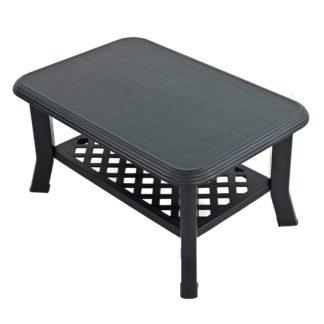 An Image of Savona Anthracite Coffee Table Dark Grey