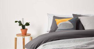 An Image of Alexia 100% Cotton Pair of Pillowcases, graphite UK