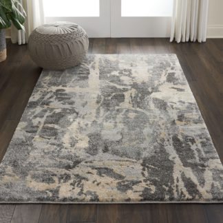 An Image of Fusion 10 Rug Grey