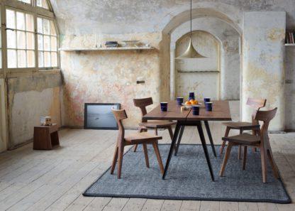 An Image of De La Espada Welles Large Dining Table Danish Oiled Walnut