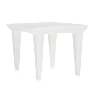 An Image of Kartell Bubble Club Sidetable Zinc White