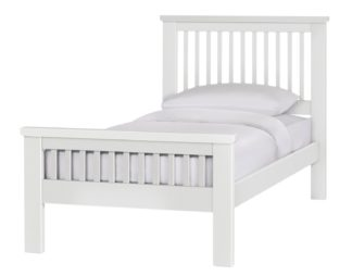 An Image of Argos Home Aubrey Single Bed Frame - White