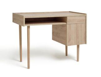 An Image of Habitat Skandi 1 Drawer Desk - Oak Effect