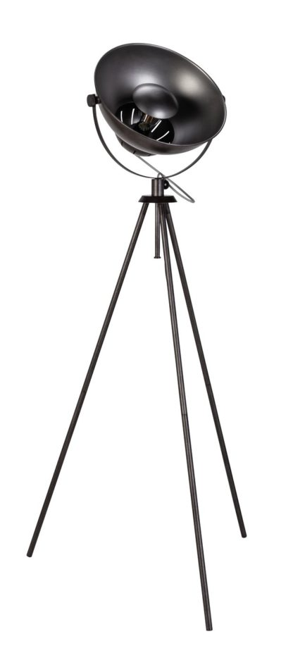 An Image of Argos Home Loft Backlit Floor Lamp - Pewter Finish