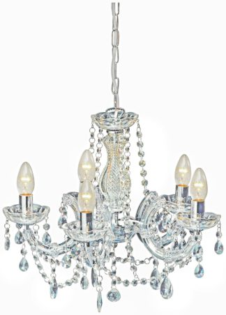 An Image of Argos Home Inspire 5 Light Chandelier - Clear