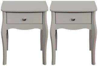An Image of Amelie 2 Bedside Tables - Grey
