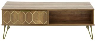 An Image of Orleans 2 Drawer Coffee Table - Mango Wood Effect
