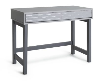 An Image of Habitat Zander 2 Drawer Desk - Grey Two Tone