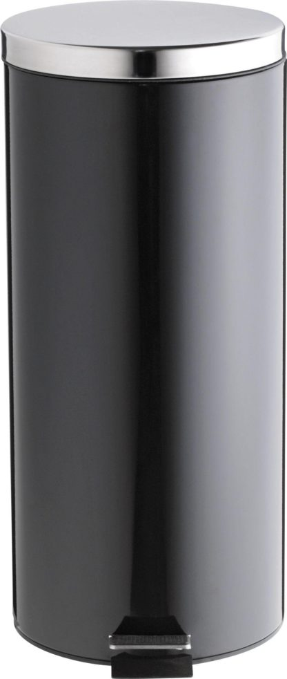 An Image of Argos Home 30 Litre Stainless Steel Pedal Bin - Black