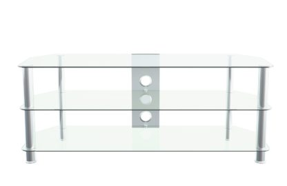 An Image of AVF Up To 65 Inch Glass TV Stand - Clear